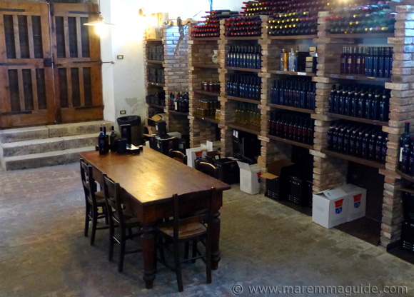 Maremma winery cellar