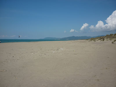 Marina di Grosseto beach Maremma Tuscany Italy