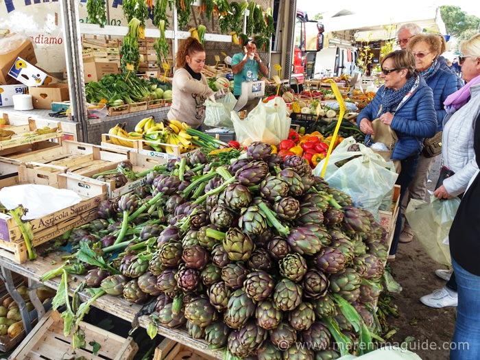 Markets in Tuscany Italy