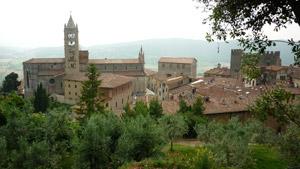 Massa Marittima rooftops, Maremma Tuscany Italy
