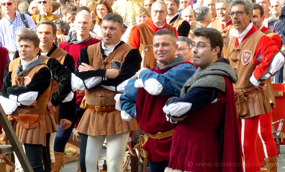 Medieval archers at the Festa di San Cerbone in Massa Marittima, Maremma