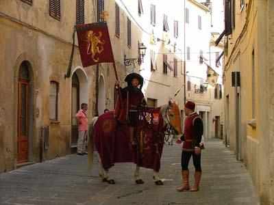 Medieval festival Massa Marittima Maremma Italy