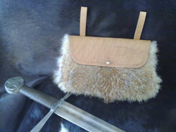Medieval handbag in fox fur from Maremma Tuscany Italy