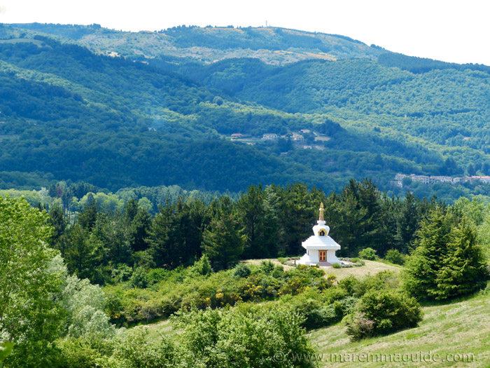 Merigar West Arcidosso: the Great Stupa.