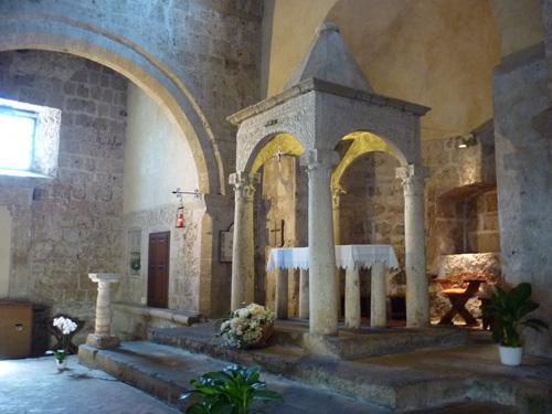 Middle ages church: Santa Maria Maggiore, Sovana Maremma Italy