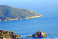 Monte Argentario coast taken from the Torre di Capo d'Uomo