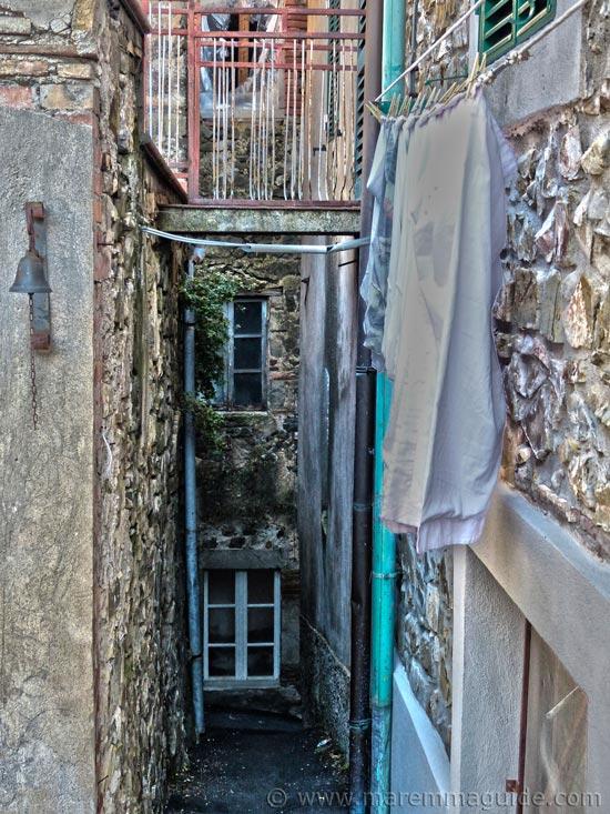 Medieval alleyway in Montegiovi, Castel del Piano.