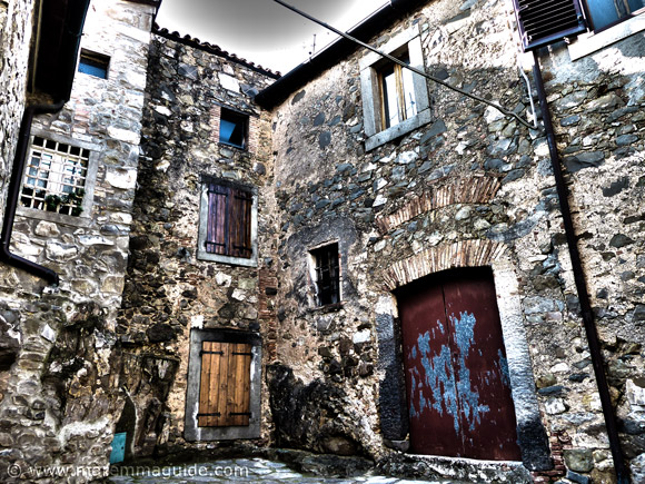 Inside Montegiovi castle in Maremma Tuscany.