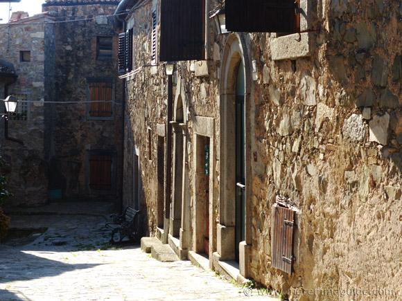 Medieval street in Montegiovi.
