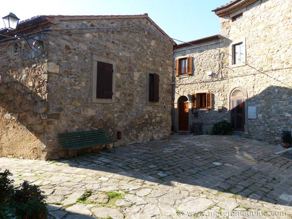 Montegiovi castle piazza.