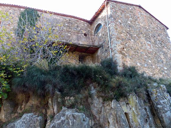 Montegiovi castle walls.