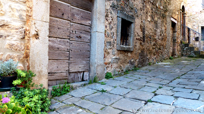 Authentic Tuscany: a middle ages street in which time has stood still in Montegiovi.