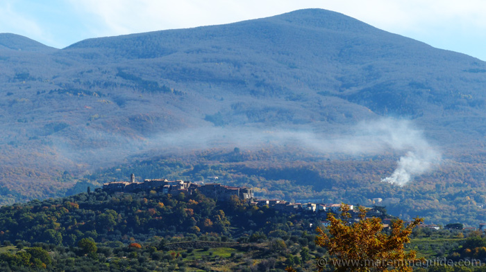 Montegiovi Tuscany in November.