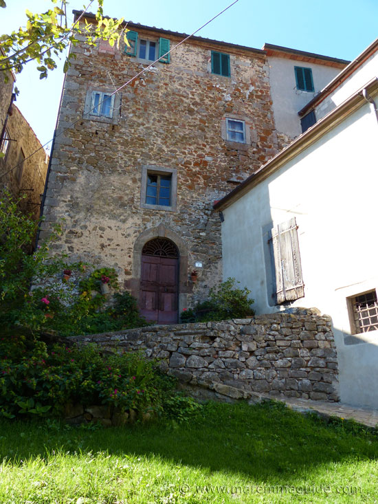 Town house within the medieval walls of Montelaterone Tuscany.