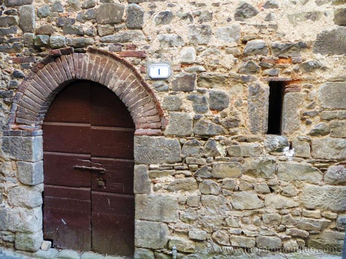 Ancient doorway in Montelaterone