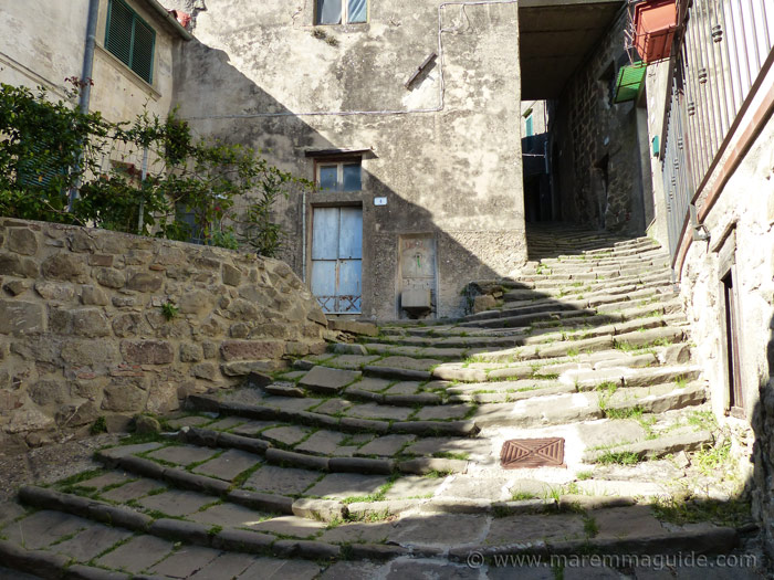 Stone-ridged street in Montelaterone
