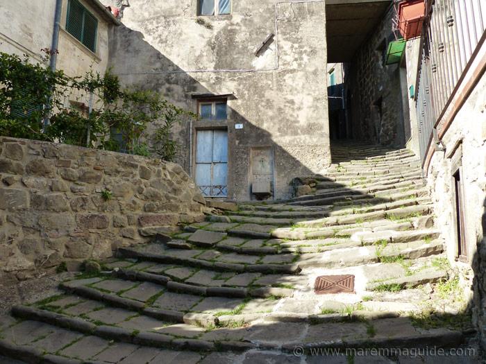Stone-ridged street in Montelaterone