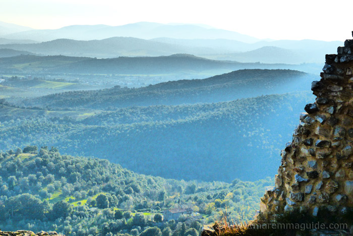 View from Montemassi over the Colline Metallifere in Maremma