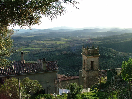 Panoramic view from Montemassi, Roccastrada, Maremma