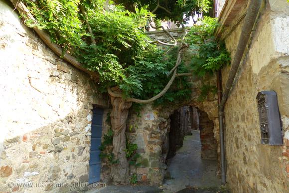 Montemerano: La Buca entrance into the city