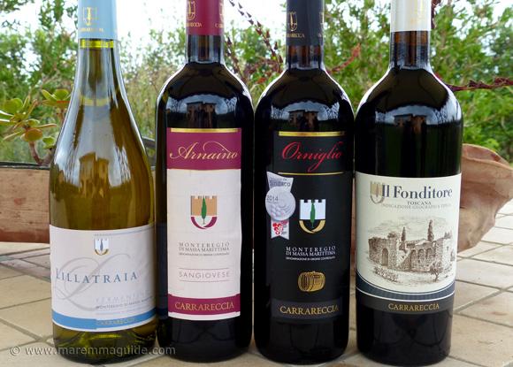 Monteregio di Massa Marittima wines in Maremma Tuscany