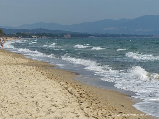 Mortelliccio beach Piombino Riotorto Maremma Tuscany Italy