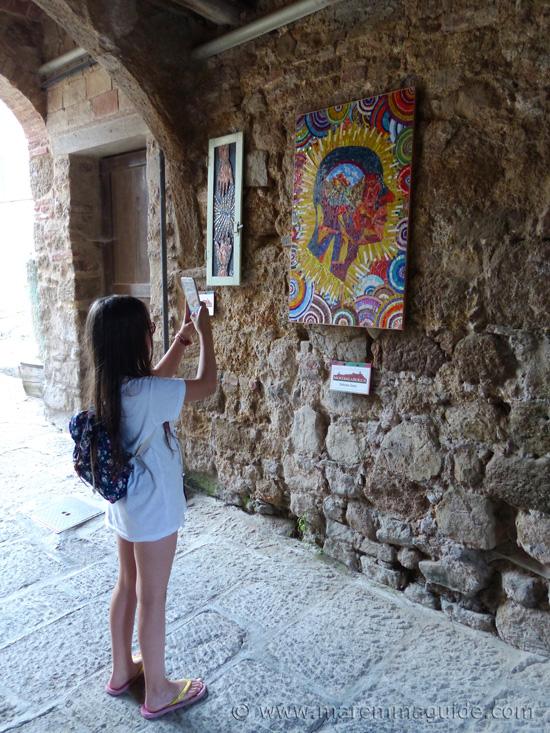 Mosaics Mostra La Rocca Roccatederighi.