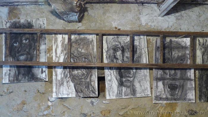 Charcoal art Mostra La Rocca.