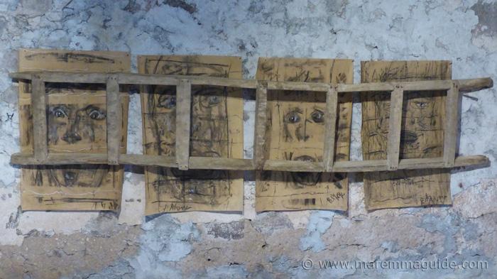 Charcoal faces Mostra La Rocca.