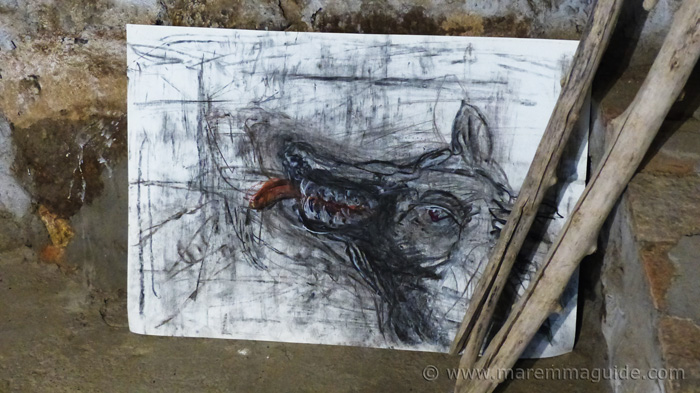 Charcoal wolf. Mostra La Rocca.