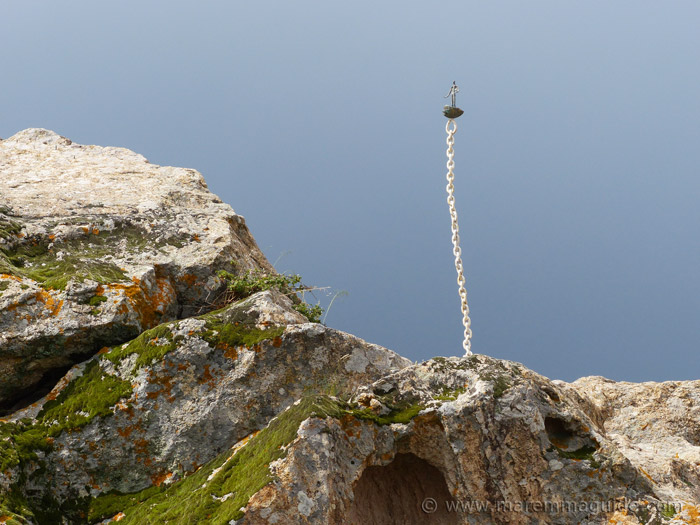 Mostra La Rocca installaition: free fall diver.