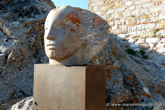 Tuscany marble sculpture in Roccatederigi Italy