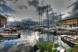 Pictures of Naples Italy: the harbour at Maschio Angioino -  Castel Nuovo - in May