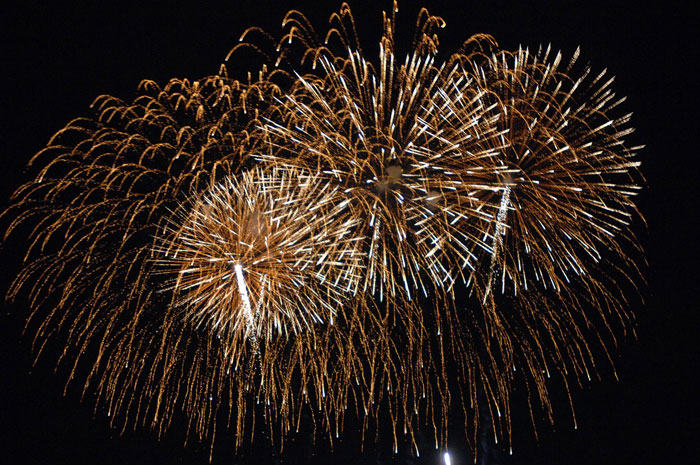 New Year's Eve in Italy: fireworks.