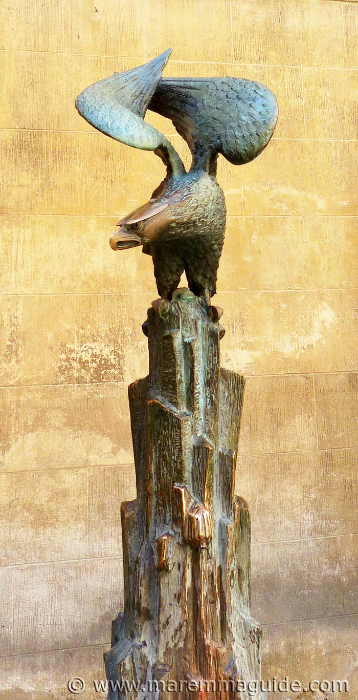 The bronze eagle of the Nobile Contrada dell'Aquila Siena.
