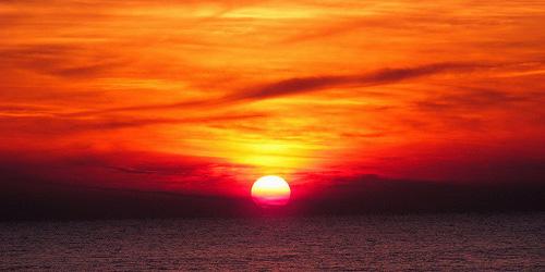 Maremma ocean sunset