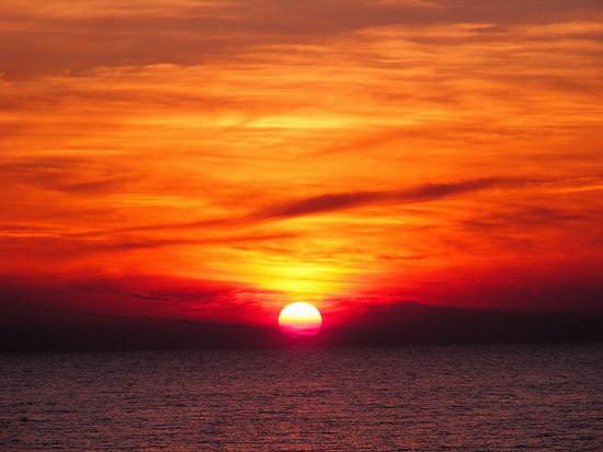 Ocean sunsets in Maremma Tuscany December
