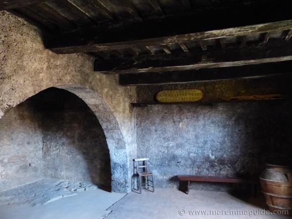 Old olive oil mill in Seggiano Tuscany: Antico Frantoio Ceccherini