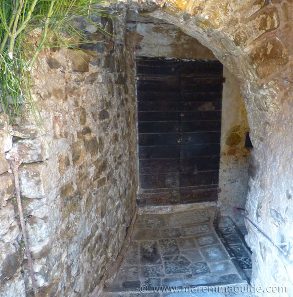 The stone medieval alleyway down to the ancient olive oil mill.