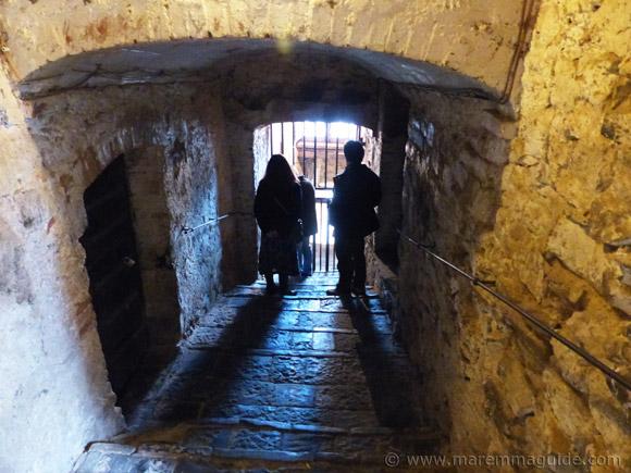 The Antico Frantoio Ceccherini entrance in Seggiano Tuscany Italy.