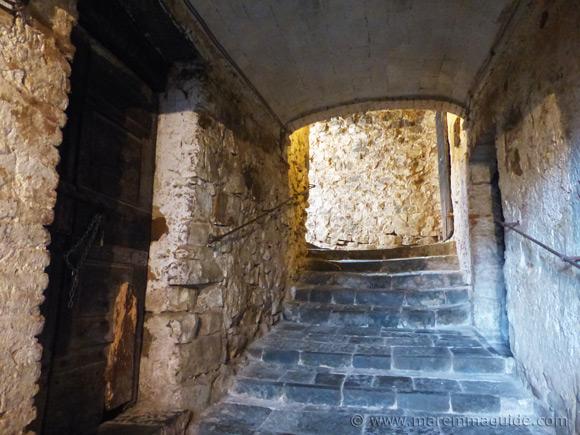 Underneath the 10th century historic centre of Seggiano in Maremma Tuscany
