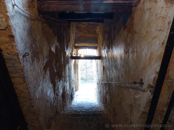 Going underneath the historic centre of Seggiano.