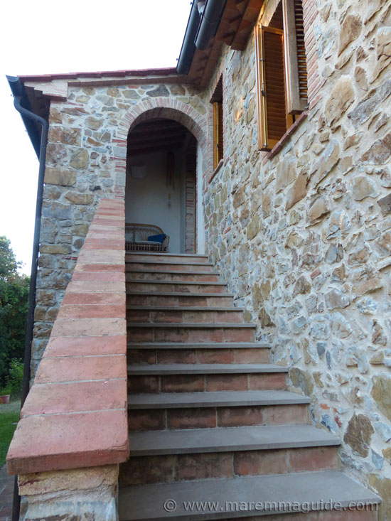 Tuscany farmhouse stone steps.