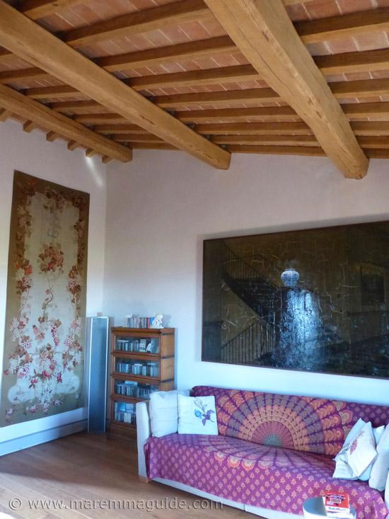 Tuscan farmhouse living room.