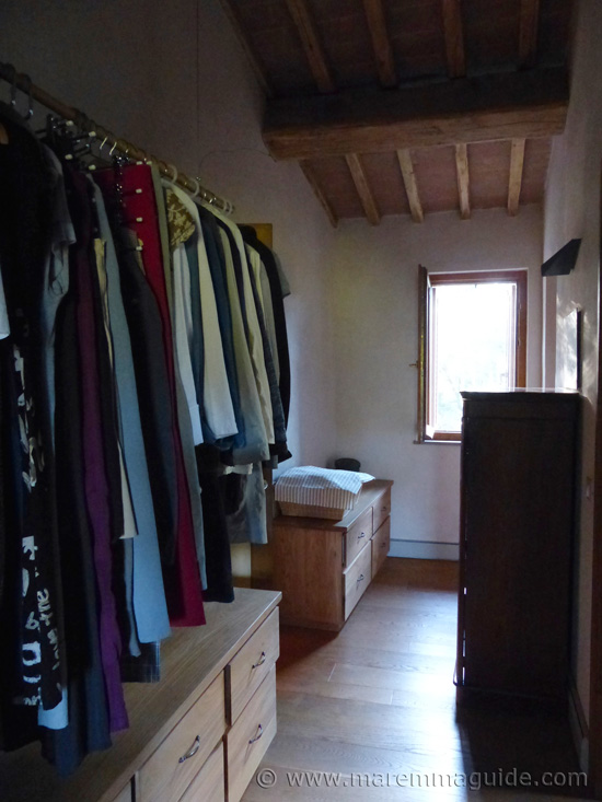 Tuscany farmhouse walk-in wardrobe