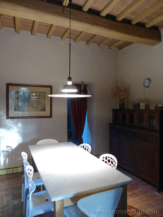 Restored Tuscan farmhouse for sale: kitchen