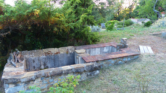 Ancient stone lavatoio in Tuscany