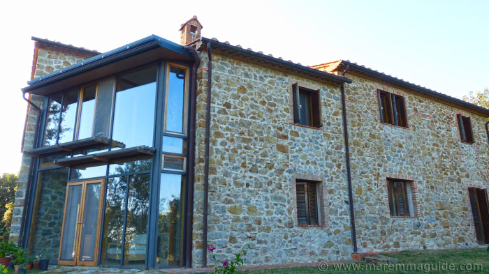 Restored Tuscan farmhouse for sale.