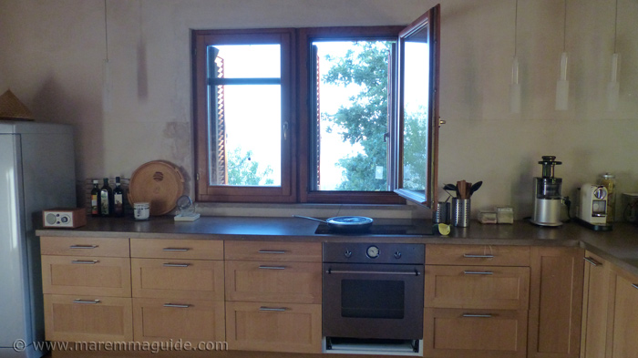 Restored Tuscany farmhouse kitchen