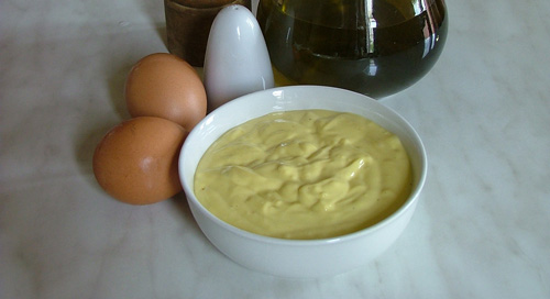 Olive oil mayonnaise: homemade mayonnaise from Maremma, Italy
